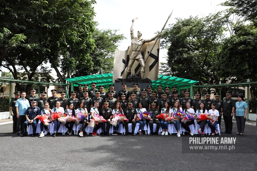 Miss Earth candidates visit Philippine Army 3