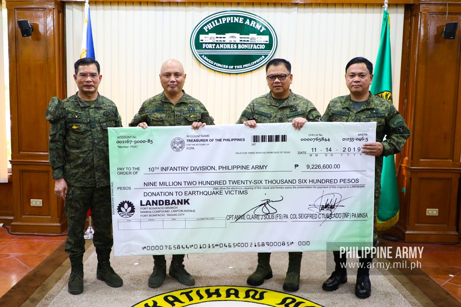 funds temporary shelters for Mindanao quake victims