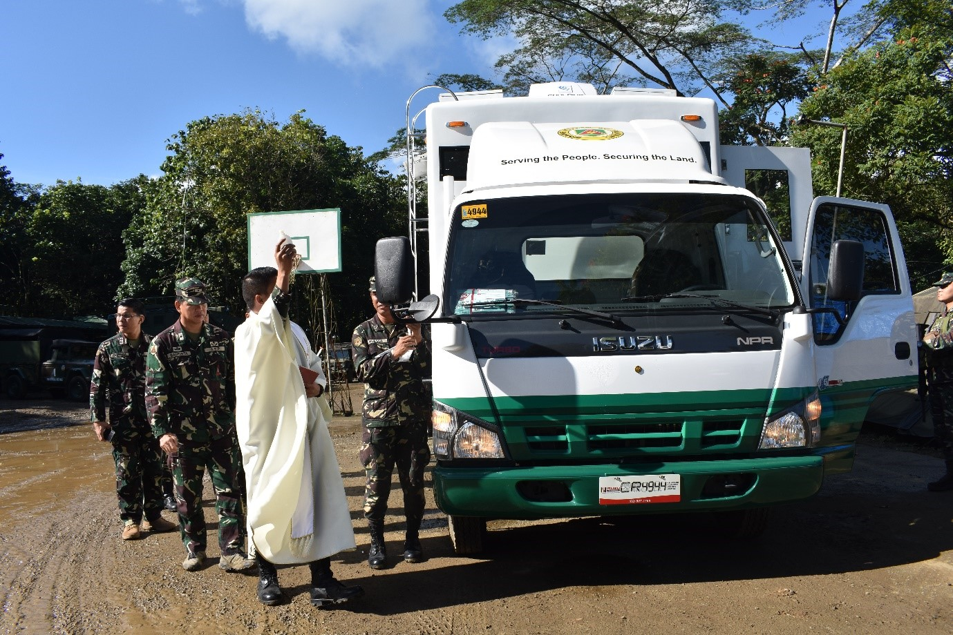 Blessing of the Mobile CMO Support Unit